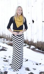 Maxi Skirt Model