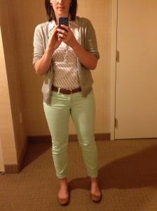 Mint Jeans Polka Dots