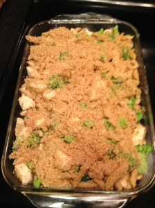 Penne Broccoli Chicken Before Cooking
