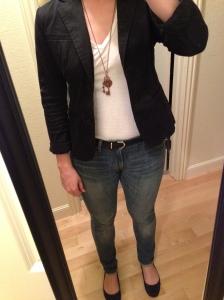 Black Blazer, Jeans, Me