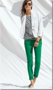 Green Jeans and Stripes
