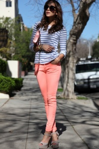Orange Pants + Stripes