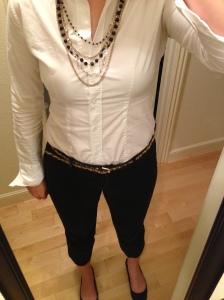 White Shirt, Black Pants Me