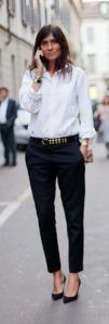 White Shirt, Black Pants Model