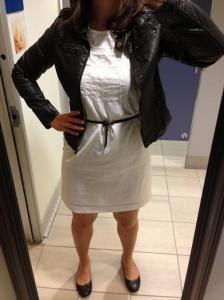 Black Leather Jacket, White Dress