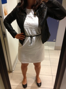 Black Leather Jacket, White Dress
