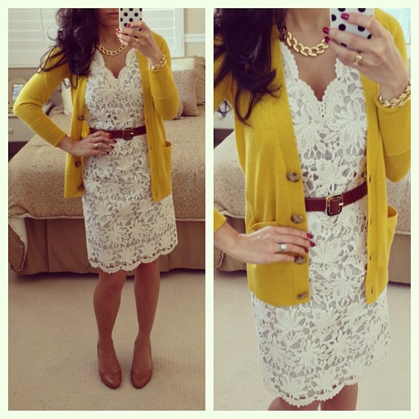 White Dress   Yellow Cardigan | FarmGirlHipster