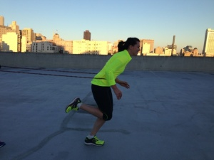 Resistance running on the gym roof at Bridal Bootcamp